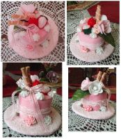 lolita sweet mini cake hat by lilmiss-sailorenigma