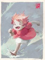 TributoGhibli. Ponyo COLOR by ruth2m