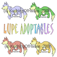 NEW Lupe adoptables by KuchingOfHades