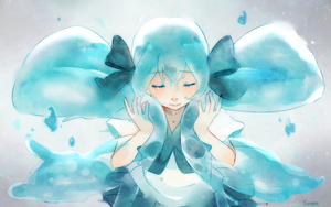 BottleMiku by yunare