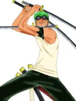 Zoro colored using GIMP by akatsuki-girl-krista