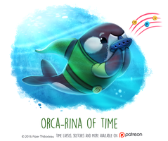 Daily Paint 1467. Orca-rina of Time by Cryptid-Creations