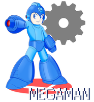 Mega Man Joins the Battle! by R64-art