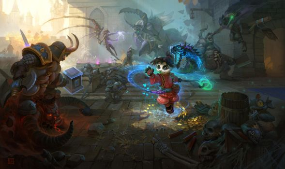 Battle for Haunted Mines by timens
