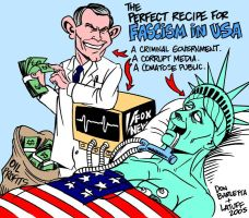 The perfect recipe for fascism by Latuff2