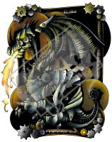 ClockWork Fantasy Dragon Color by DragonPress