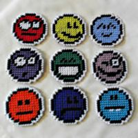 Rainbow Emoticon Fridge Magnets by agorby00