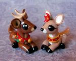 Reindeer Couple by DragonsAndBeasties