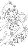 Lineart: Wrapping in cloak by GlyphBellchime