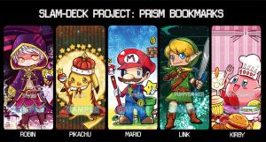 Project Slam Deck: Prism bookmarks by jinyjin