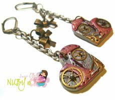 Cute Steampunk Hearts by colourful-blossom