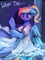 rainbowdashy dress (30minutechallenge) by luminaura