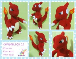 CHARMELEON POKEMON PLUSHIE by chocoloverx3