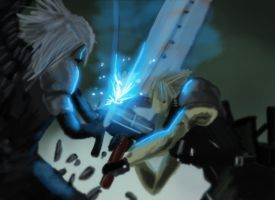 Cloud vs Sephiroth by AtomicWarpin