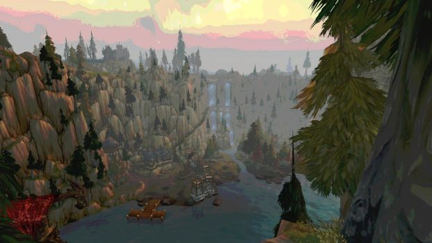 Howling Fjord - Vantage Point (Modified) by Bluemead