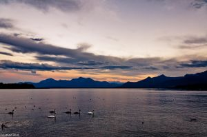 Lake Chiemsee at Sunset by JBord