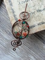 Copper shawl pin by Lirimaer86
