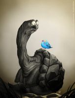 The turtle and the parakeet by MarekDolata