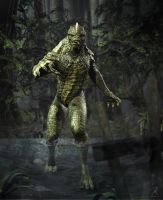 Creature from the swamp by RawArt3d