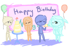 (Horrible) B-day drawing for Battlestoriesfan by Ardnaksela
