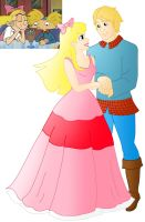 Disney style Romance: Arnold And Helga by Willemijn1991