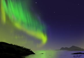 Northern Lights by PackRatTheArtist
