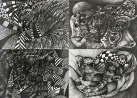 Abstract and Surreal Ink Study by NAWROSKI