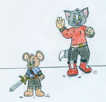 Little Tom and Jerry - Mii Fighters by Jose-Ramiro