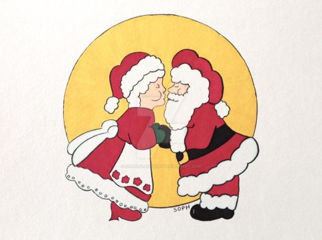 Santa and his Sweetie by SophlyLaughing