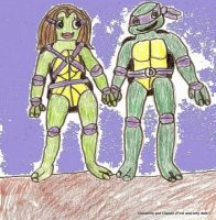 Donatello and Dianne by catshere