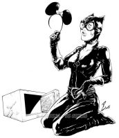 Unlucky Catwoman by dekarogue