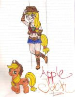MLP- Apple Jack Humanized by NaziViolinist