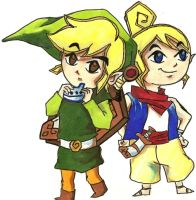 Link and Tetra by Moonbeams-and-Crows