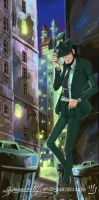 Jigen in a street side of N.Y. by handesigner
