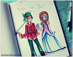 The Elf King and The Princess by LizbethLizard