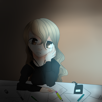Drawing at Night by sniffies