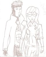 Daria and Trent as Rogue and Gambit by JimmyTwoTimes2K9