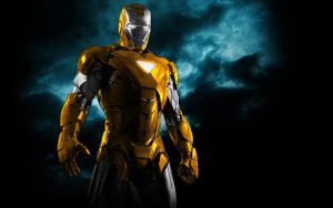 Iron Man Mix Gold + Silver by 666Darks