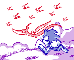 A Sketch . . . with Sonic in it by JamesmanTheRegenold