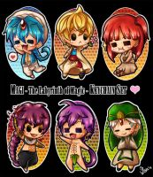 Magi - The Labyrinth of Magic - Keychain Set by Saya-Kun