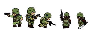 Soldiers by StickstoMagnet
