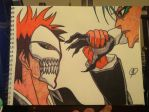 Ichigo and Grimmjow by DraneAnimation1