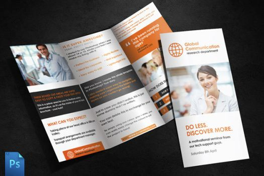 Tri Fold Brochure Template by quickandeasy1