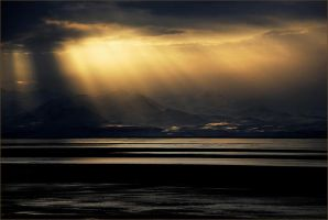gold sunset by pourna
