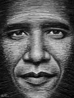 Obama in a Few Lines by BenHeine