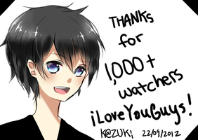 thanks for 1k + watchers!! by deaeru