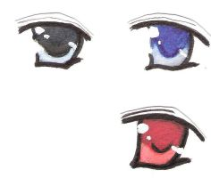 Eyes (Watercolor) by Aluriell