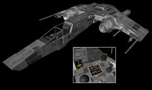 Scimitar Fighter Mk2 by the-least
