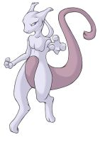 ...pogheys... Mewtwo by Rainbow-Cemetery