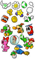 Commish: Yoshi's Island Sticker Madness! by SuperLakitu